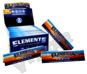 1-5-10-15-25-ELEMENTS-ULTRA-THIN-RICE-KING-SIZE-SLIM-ROLLING-PAPERS-SKIN-GENUINE