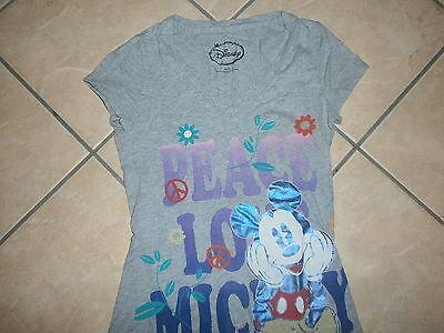 Disney Girls Mickey Mouse Peace T-Shirt