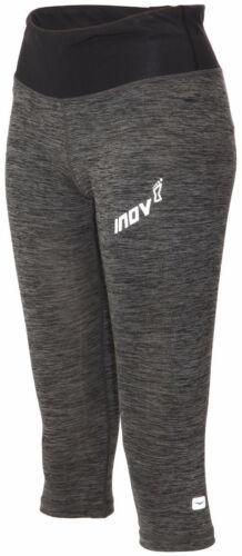 Grey Inov8 All Terrain 3//4 Capri Womens Running Tights