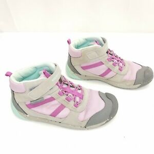 Merrell Kids Bare Steps Ridge Hiking Boots High Top Ankle Strap Shoes Size 2