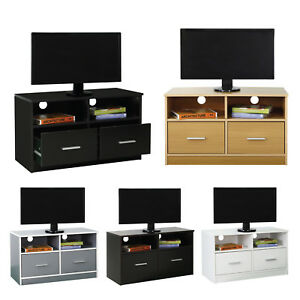 TV-Stand-Wooden-Cabinet-with-2-Drawers-amp-Shelf-Storage-Entertainment-Unit