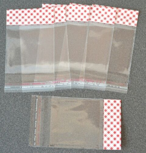 tag 200-55x55mm closed,Clear Cellophane Peel /& Seal bags D.49