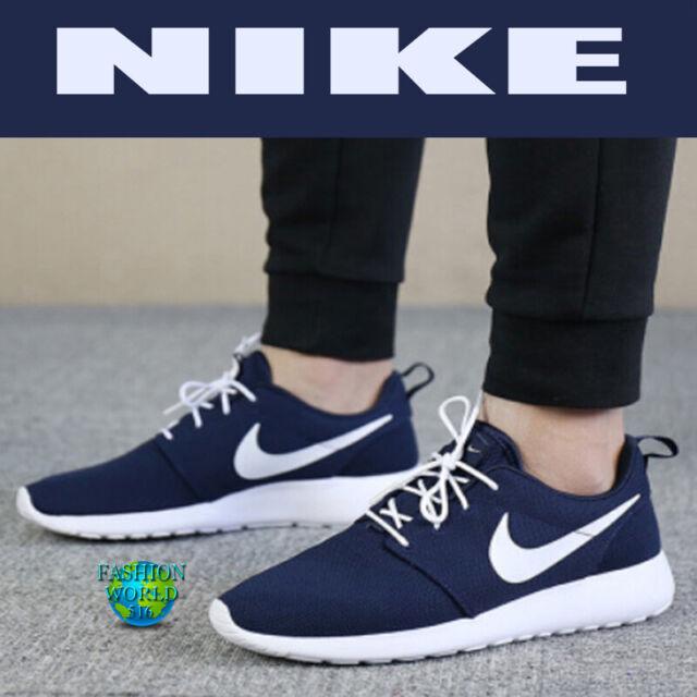 Nike Men's Size 8.5 Roshe One Running Sneakers ObsidianWhite 511881 423