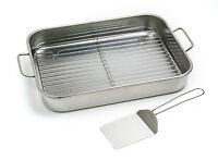 Norpro 272 Stainless Lasagna Roast Turkey Baking Pan With Rack And Spatula on sale
