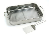 Norpro 272 Stainless Lasagna Roast Turkey Baking Pan With Rack And Spatula on sale