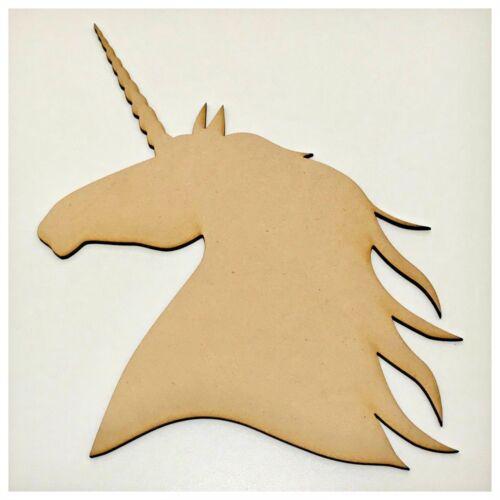 Unicorn Horse Plain Raw Cut Out Timber MDF Craft Art DIY Raw Wooden Hoof Magic