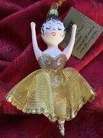 Flawless Exceptional Pier 1 Imports Glass Gold Ballerina Christmas Ornament