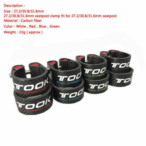 TOSEEK MTB Bicycle Seatpost 27.2//30.8//31.6mm T800 Carbon Fiber Plain Seatpost US