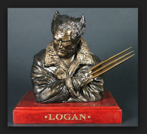 EARTH-X-MARVEL-LOGAN-WOLVERINE-BRONZE-BUST-BY-DYNAMIC-FORCES-FACTORY-SEALED
