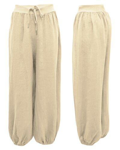 Schlupfhose Damenhose elastisches Gummi Tunnelbund Pumphose Sommerhose 40-46