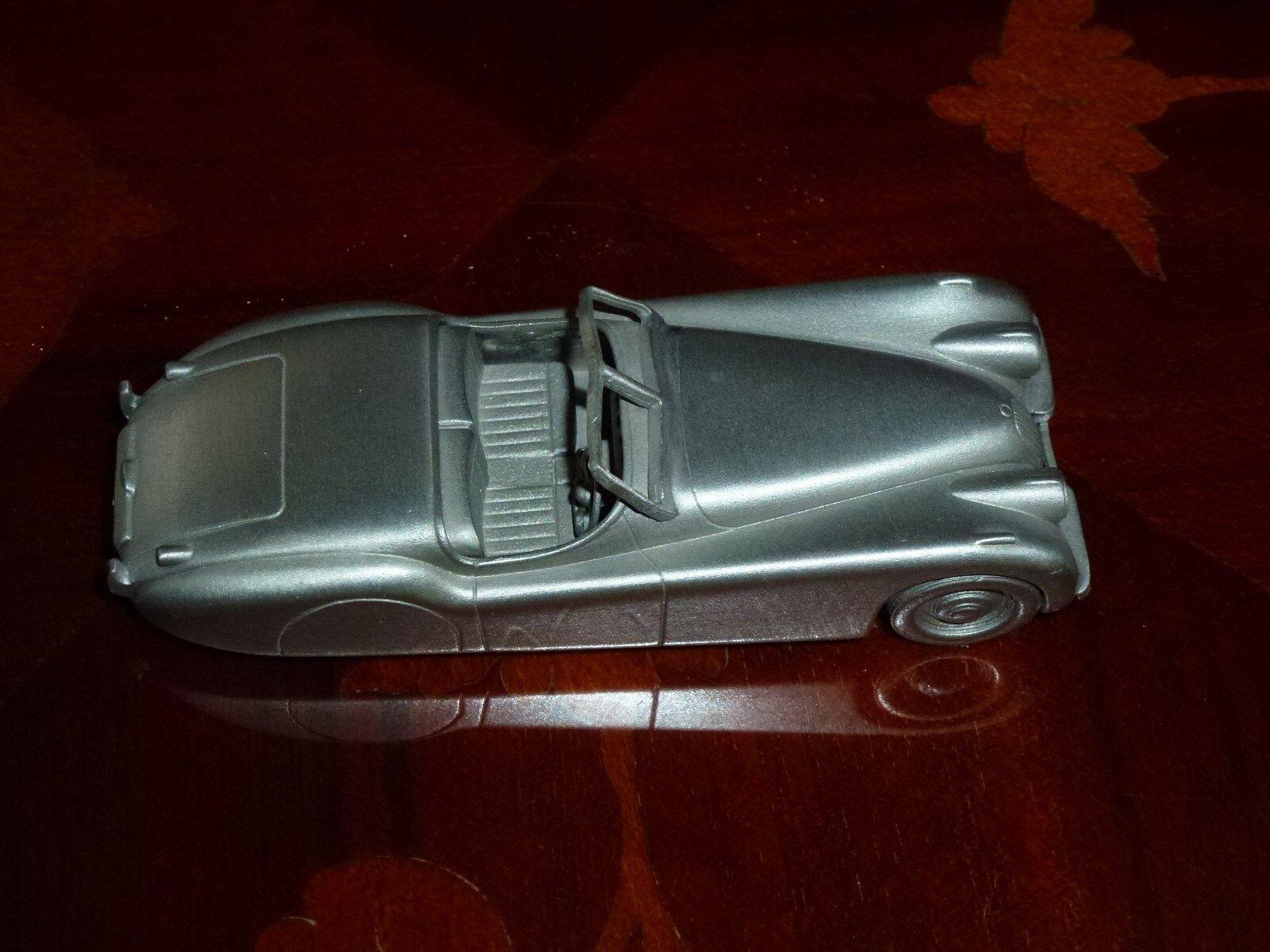 1951 XK120 JAGUAR PEWTER MODEL MINT CONDITION OFFICIAL WITH JAGUAR STAMP