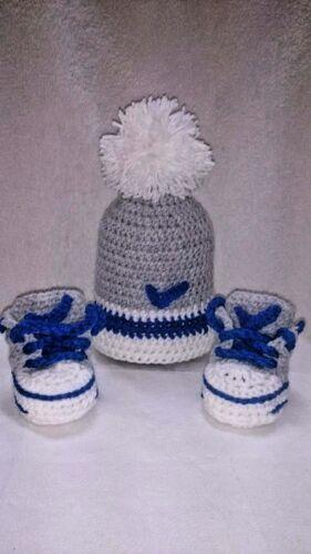 Zapatos de Bebé de Ganchillo Tejer A Mano Zapatillas Sneakers Ropa Calcetines Sombreros Gorras Botas
