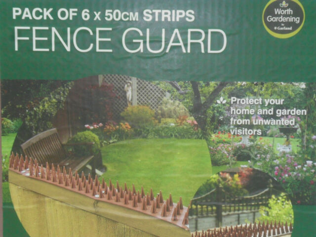 Fence Spikes Wall Security Spikes 6 x 50cm Strips 3 Metres in Total Fence Guard