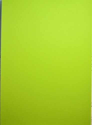 10 Hojas A4 doble cara tarjeta de artesanía Verde Lima 400gsm Nuevo *