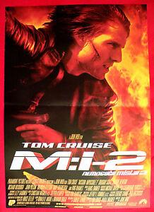 Mission Impossible Ii 2000 Tom Cruise Dougray Scott John Woo Exyu Movie Poster Ebay