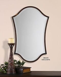 Image Is Loading Unusual Shaped Arch Vanity Wall Mirror Bronze
