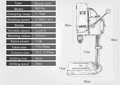 MINIQ BG5156E BENCH DRILL STAND 710W MINI ELECTRIC BENCH DRILLING MACHINE DRILL