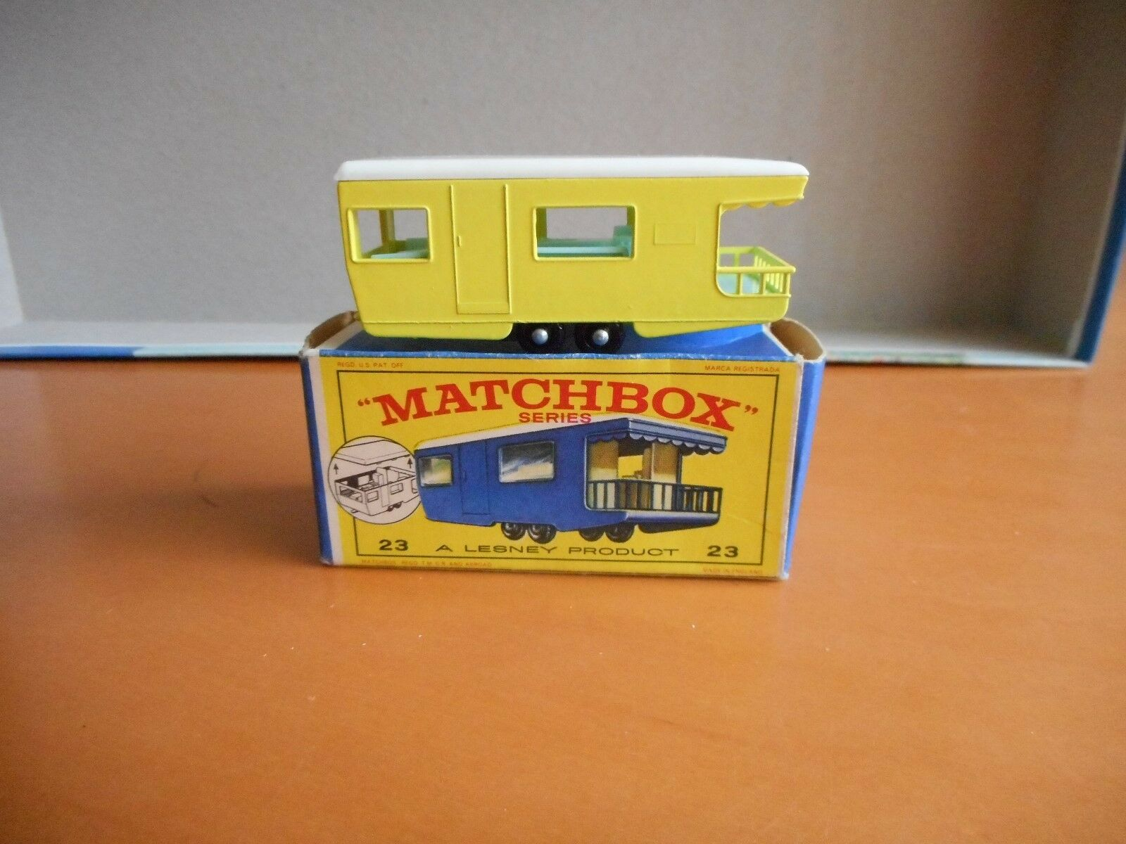 Matchbox Series 23 A Lesney Product Trailer Caravan Caravan Caravan new model and box 636c54