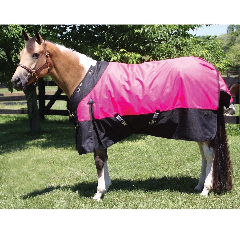 Winter Turnout Blanket - Hot Pink-1200D - 380 Grams-Storm Shield Contour Collar