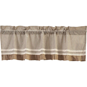Image Is Loading New Primitive Country Chic Shabby BLACK TICKING Burlap