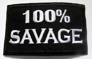 100-SAVAGE-WILD-Aufnaeher-Patch-Sprueche-Biker
