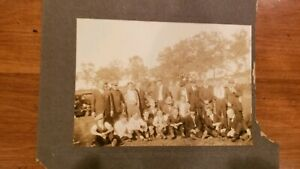 Lot-Of-3-Antique-Vintage-Photos-Portrait-Wedding-Gathering-NYC