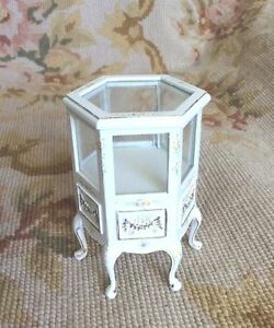 Bespaq Dollhouse Miniature Six Sided Shop Store Counter Cabinet - Six sided table