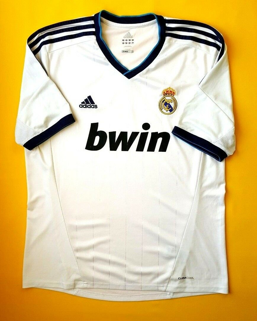 5890e1c54c6 4.3 5 Real Madrid jersey XL 2012 2013 home shirt X21987 Adidas soccer ig93