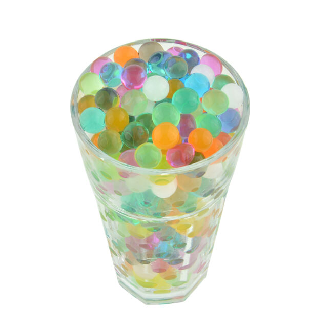250pcs Crystal Soil Water Gel Jelly Blue Water Beads For Vase Home Decor