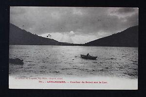 Tarjeta-Postal-Antigua-CPA-Animada-Gerardmer-Dormir-de-Sol-Sur-El-Lago