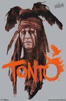 The Lone Ranger Movie Poster Tonto Portrait 22x34 Johnny Depp