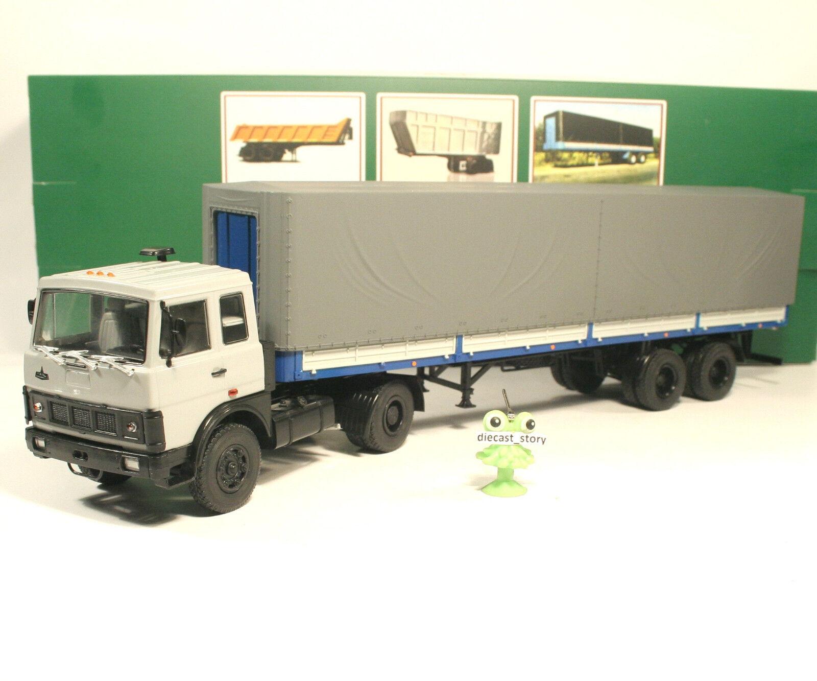 1 43 MAZ 5432 tractor truck MAZ 93971 semitrailer Sattelzug USSR UdSSR russian