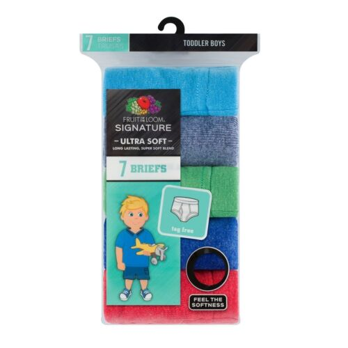 Toddler Boy Fruit of the Loom 7-pk Signature Ultra Soft Briefs
