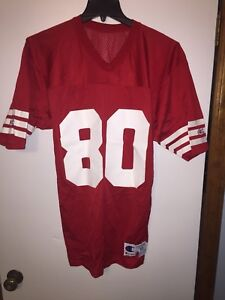 quality design 65222 a9b80 Details about New Vintage JERRY RICE San Francisco 49ers Size 40 Champion  Defect Jersey
