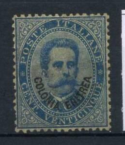 Eritrea-1893-Sass-6-Nuovo-100-Re-Umberto-I-25-c