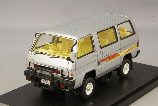 1 43 Hi-Story Mitsubishi Delica Star Wagon 4x4 GLX dépasser 1985 argent HS178SL