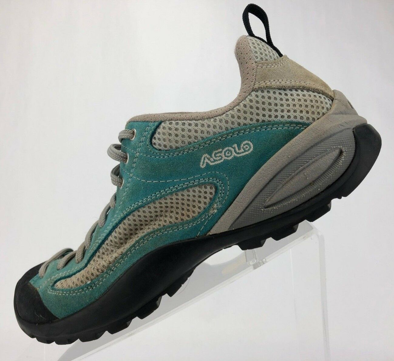 Asolo Hiking shoes Boots Mountaineering Green Leather Comfort Trail Womens Sz 8