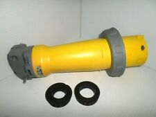 Hubbell M5100p9 100 Amp Pinampsleeve Marine Plug 120208vac 4p5w 100a
