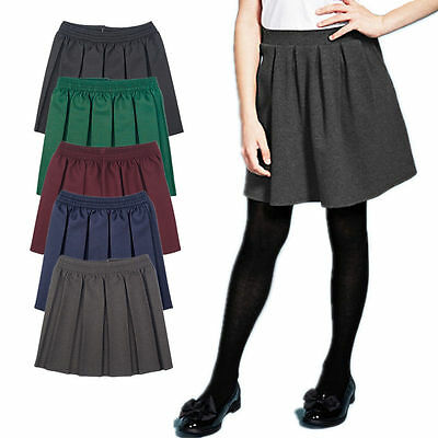 c27c9dcd0 Details about Girls School Uniform Box Pleated Elasticated waist school  kids Skirt Age 2-18yrs