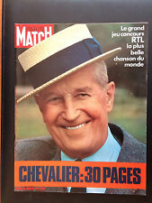 paris match n°1184 maurice chevalier 30 pages 1972