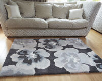 Modern Floral and Geometric Soft Shaggy Rug in Various sizes and Colours Carpet