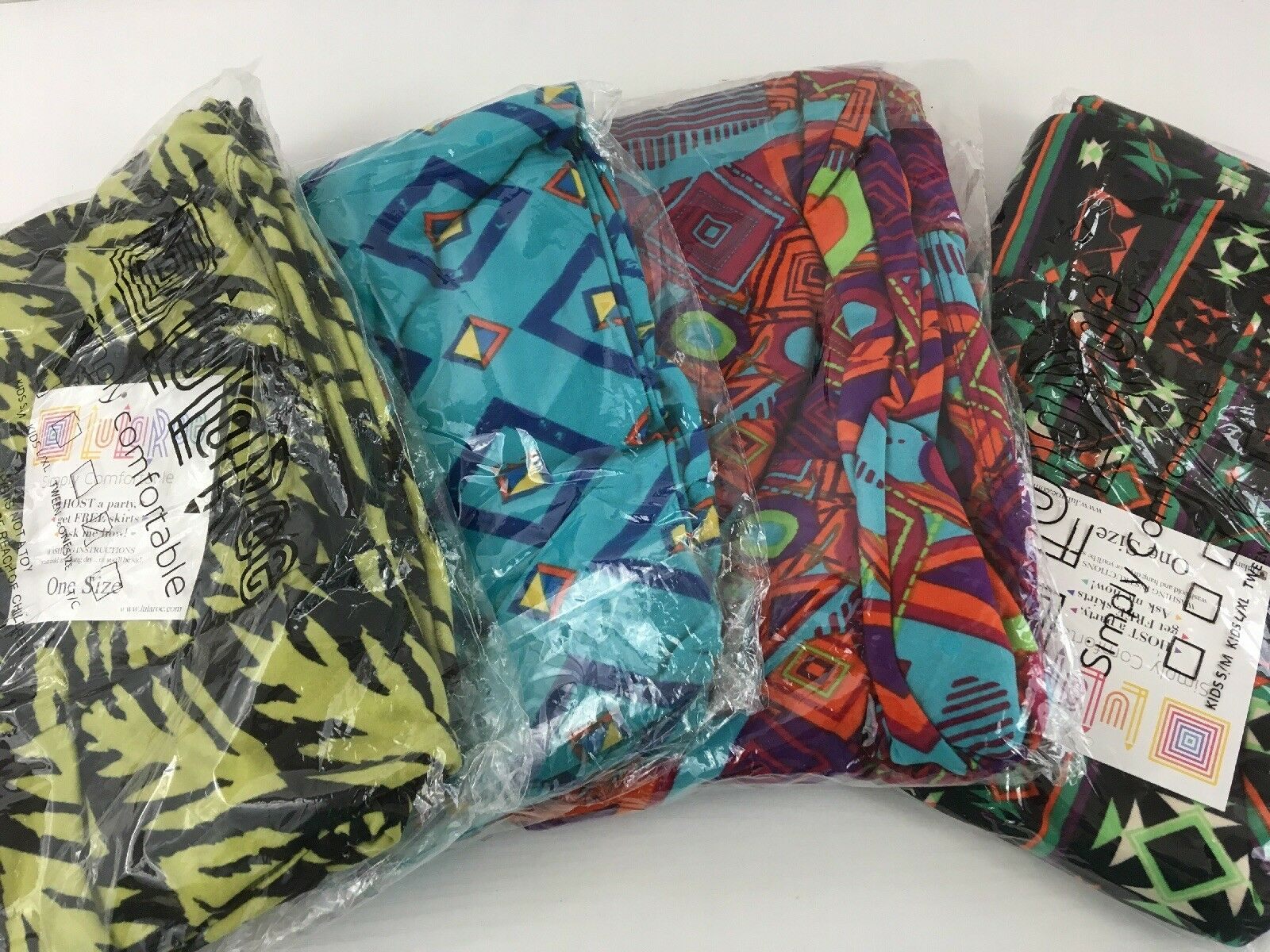 Lularoe Legging Lot Of 4 One Size New  Aztec Geometric Prints L17