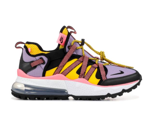 buy popular 22395 88e71 Nike Air Max 270 Bowfin Mens Size 9 Black Atomic Violet Amarillo