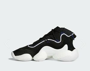 premium selection 8d51c b247c Image is loading Adidas-Crazy-BYW-LVL-1-Black-Size-11-