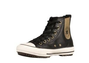 134e6ea8ed1 Converse CTS Chelsea Boot Hi Top Leather Black Gold Women s 7 NEW IN ...