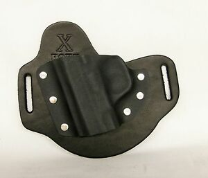 Details about FoxX Holsters Leather & Kydex OWB Holster (Pick Your Gun)  Black Left Draw