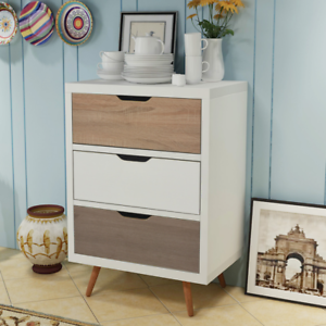 Image Is Loading Retro Chest Of Drawers Scandinavian Storage Unit Cabinet