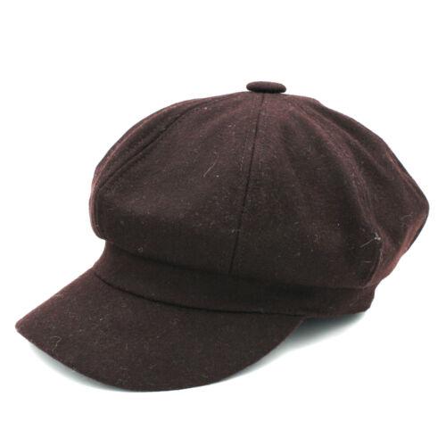 Men Women Baker Boy Hat Newsboy Cap Octagonal Ivy Visor Elastic Sunhat Sunbonnet