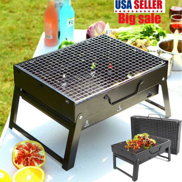 Small Barbecue Stove Bbq Grill Cook Heater Tabletop For Garden Outdoor Camping