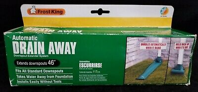 Frost King Drain Away De46wh White Automatic Downspout Extender Extension
